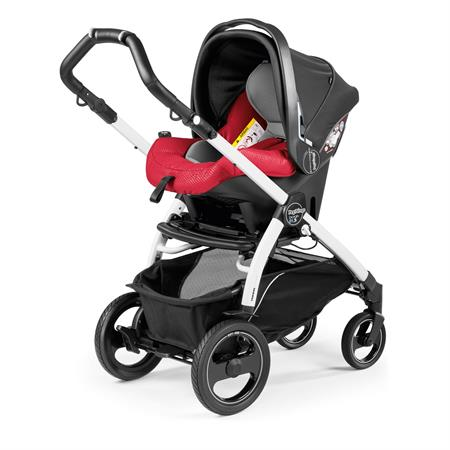 Peg Perego Book 51s Sportivo Bloom Red Gestell 51s Weiss Primo Viaggio Sl