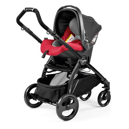 Peg Perego Book Plus Sportivo 2017 Bloom Red Gestell Schwarz Primo Viaggio SL