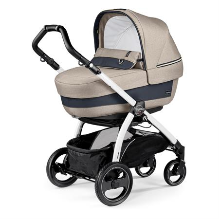 Peg Perego Book S Completo Luxe Beige Gestell S Weiss Navetta