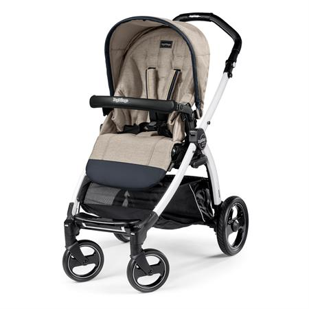 Peg Perego Book S Completo Luxe Beige Gestell S Weiss Ohne Beindecke