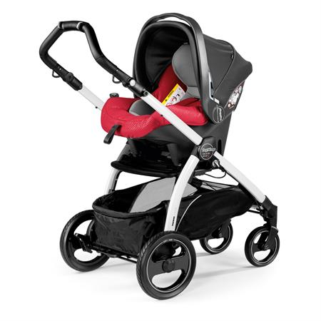 Peg Perego Book S Sportivo Bloom Red Gestell S Weiss Primo Viaggio Sl