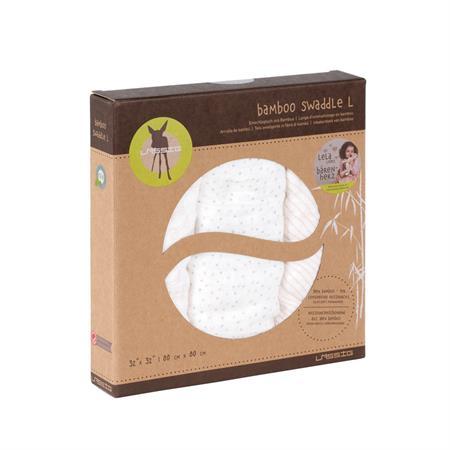 Lässig Bamboo Mulltuch Muslin Swaddle & Burp Blanket L lela light pink