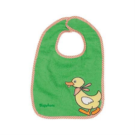 Playshoes Klett-Lätzchen Ente grün