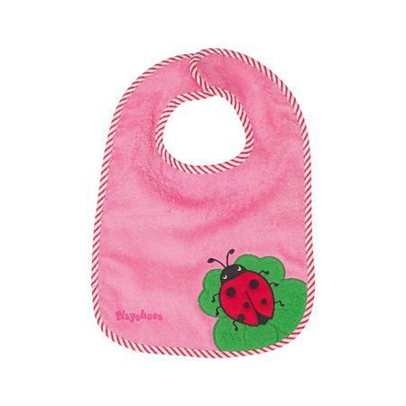 Playshoes Klett-Lätzchen XL Marienkäfer pink
