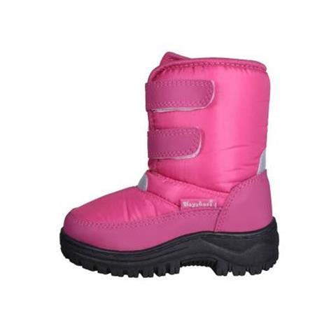 Playshoes 193010 Winter-Bootie mit Klettverschluss Pink