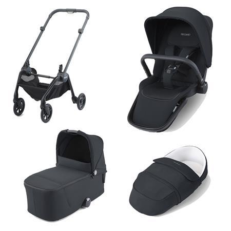 Recaro Kombikinderwagen Sadena Rahmen Black Design Select Night Black