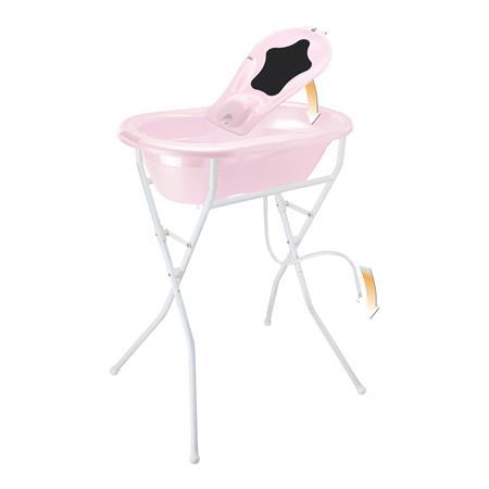 rotho TOP Pflegeset 5-teilig mit Babybadewanne, Ba Tender Rose Pearl