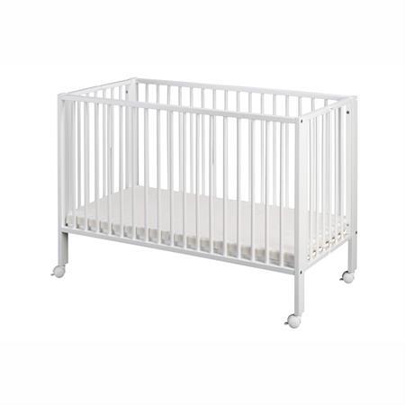 tiSsi Kinderbett / Faltbett Buche incl. Matratze Weiß