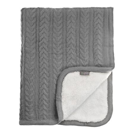Vinter & Bloom Decke Cuddly 100 x 80cm Dove Grey