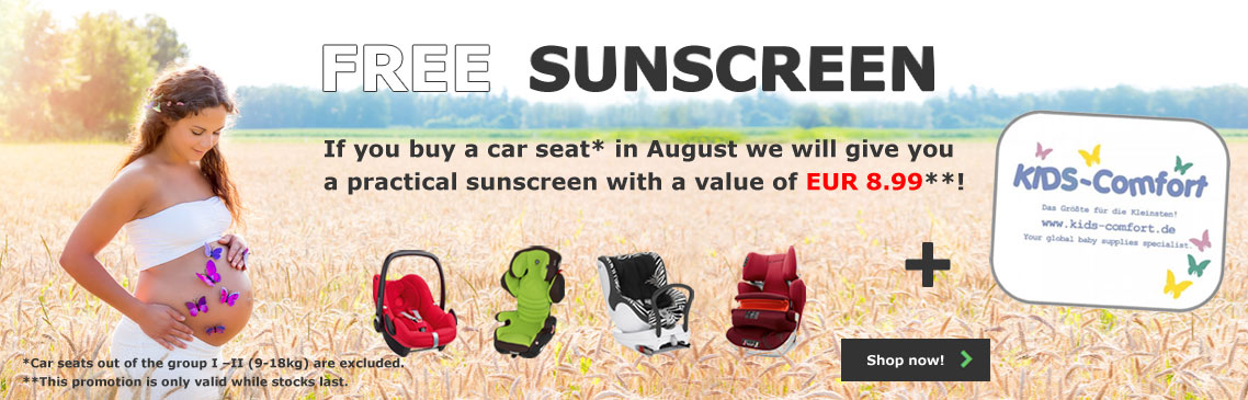 Free pair of Kids-Comfort special edition sunscreen