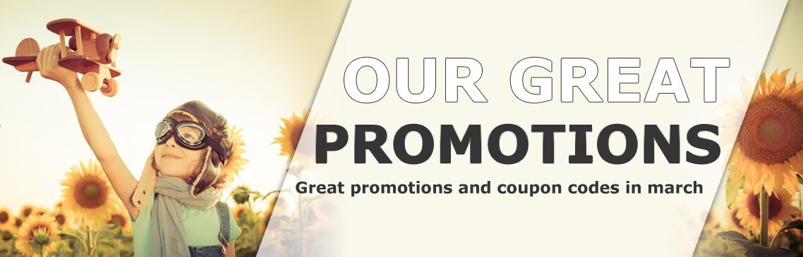 Our great promotions in march