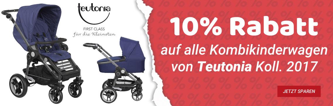 Sichern Sie sich 10% auf alle 2017er Produkte der Marke Teutonia!