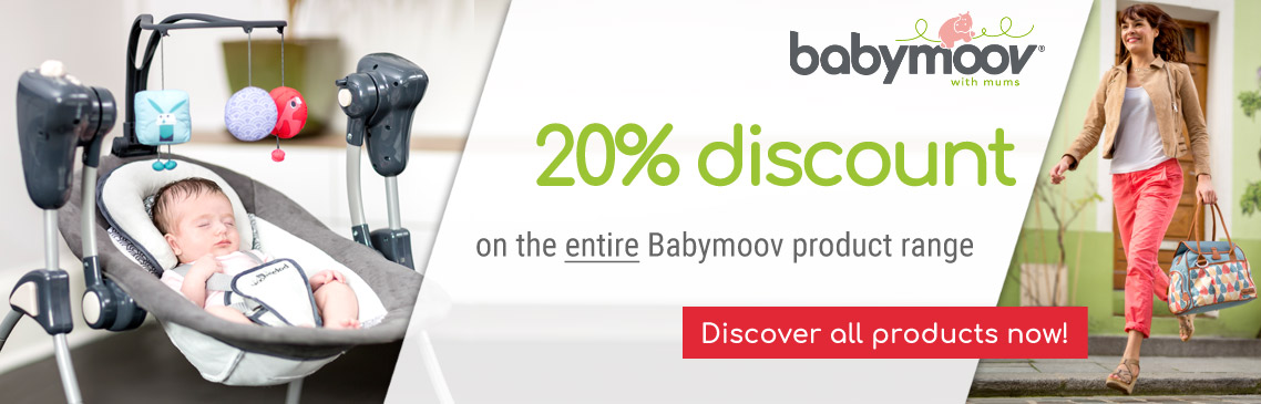 Safe 20% discount on all Babymoov Products