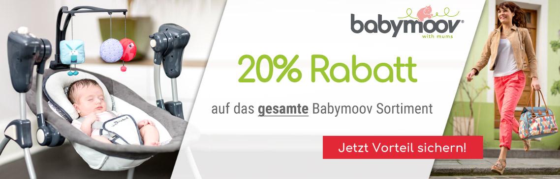 Sichern Sie sich 20% auf alle Produkte der Marke Babymoov!
