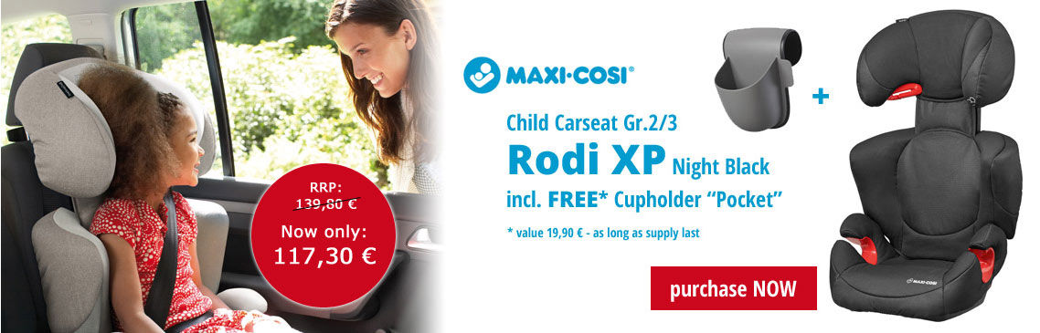 Maxi-Cosi Bundle Child Car Seat Rodi XP incl. FREE Cup Holder
