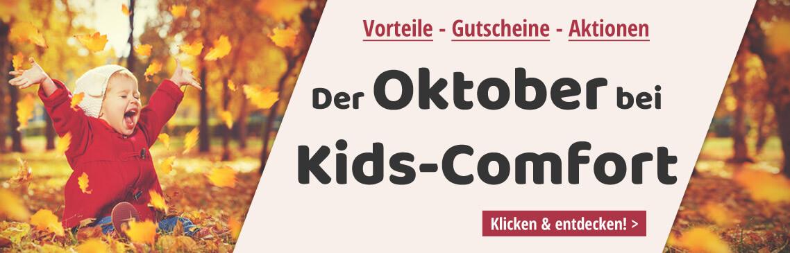 Tolle Aktionen und Gutschein-Codes im Oktober bei Kids-Comfort