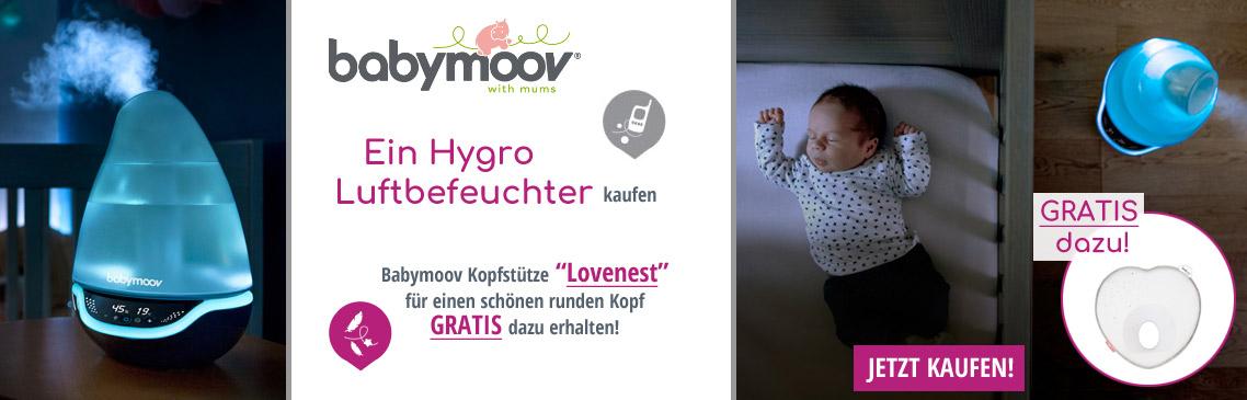 Erhalten Sie beim Kauf eines Hygro Luftbefeuchters ein gratis Lovenest dazu.