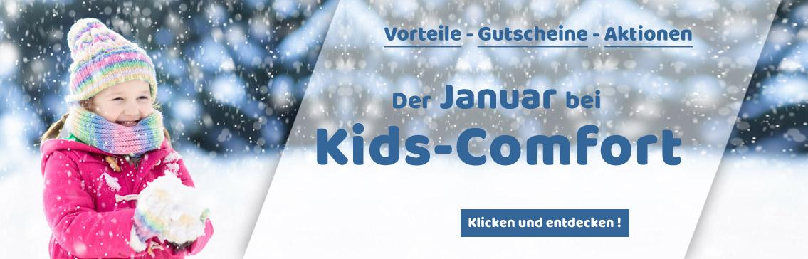 Tolle Aktionen und Gutschein-Codes im Januar bei Kids-Comfort