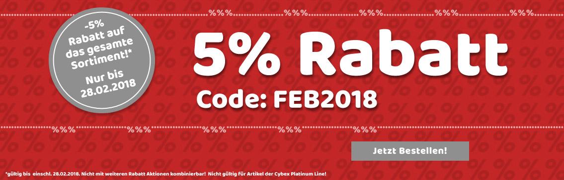5% Rabatt auf alles im Februar!
