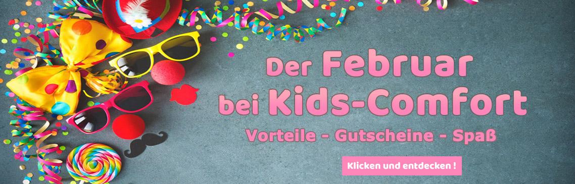 Tolle Aktionen und Gutschein-Codes im Februar bei Kids-Comfort