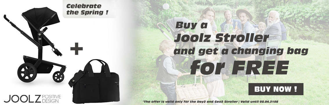 Buy a Joolz Stroller and get a changing bag for free