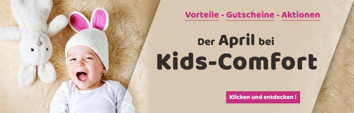 Tolle Aktionen und Gutschein-Codes im April bei Kids-Comfort