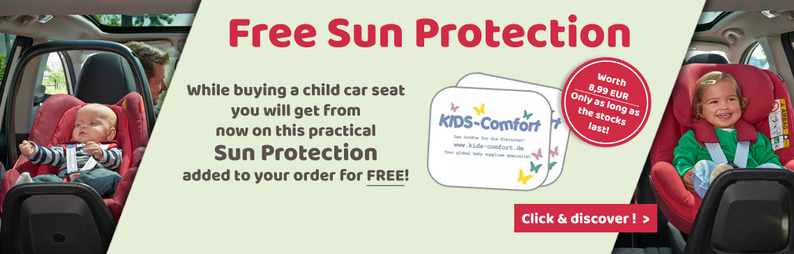 While buying a car seat you will get this sun cover for free!