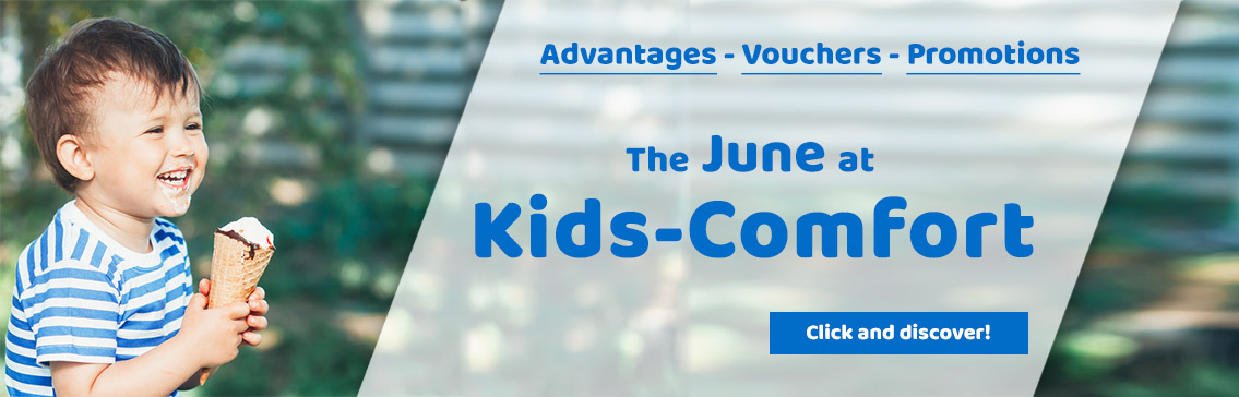 Our Promotions in may at Kids-Comfort