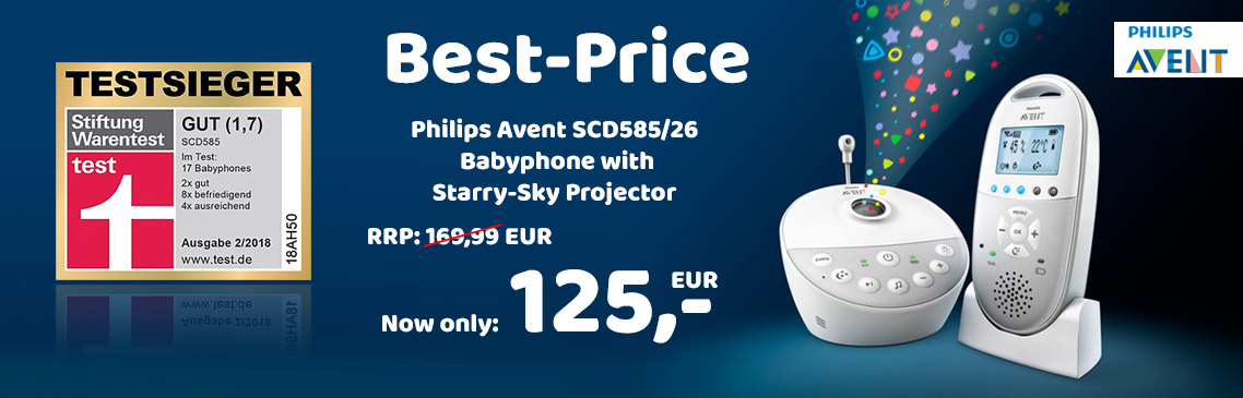Safe now the best price for the avent babyphone for only 125,- EUR!