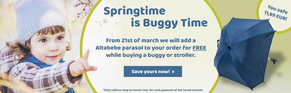 Safe now a FREE parasol for spring start!