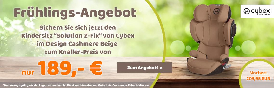 Cybex Kindersitz Solution Z-Fix zum Knallerpreis!