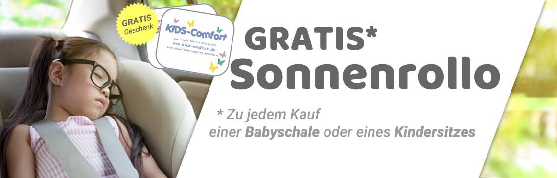 Babyschale, oder Kindersitz kaufen und GRATIS Sonnenschutz sichern!