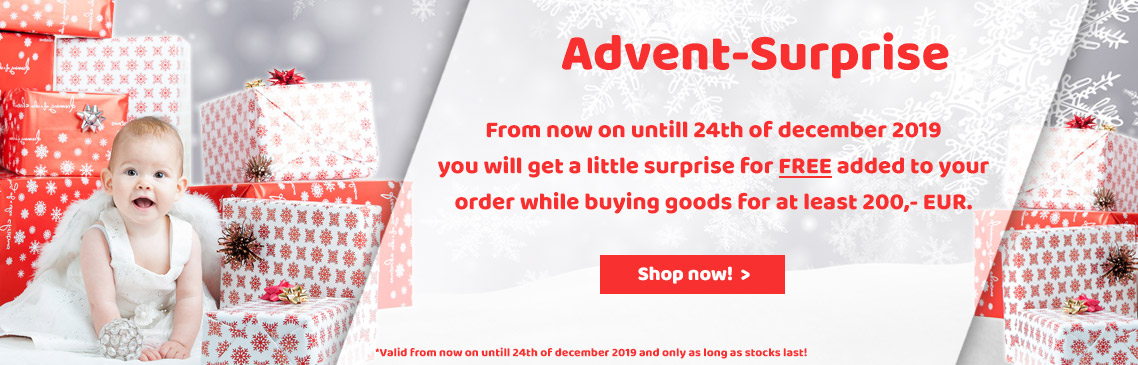 Save now your FREE surprise while buying goods for at least 200,- EUR!