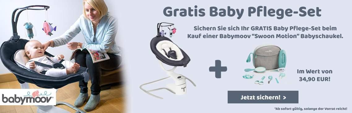 Jetzt GRATIS Baby Pflege-Set sichern!