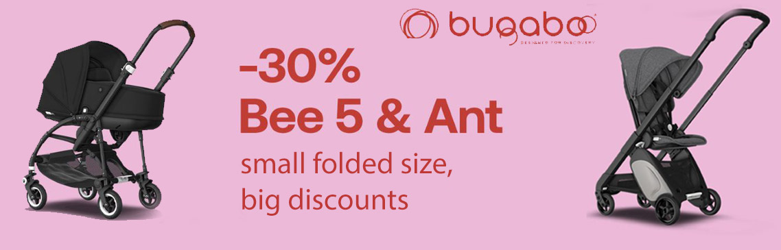 -30% Discount on the bugaboo stroller bee5 and ant