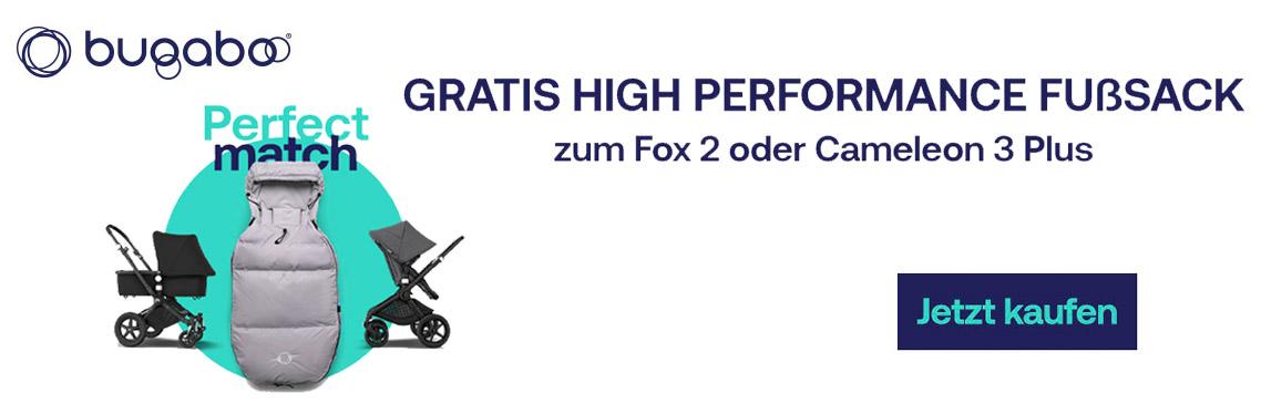 Gratis High Perfomance Fußsack zum FOX 2 und Cameleon 3 Plus