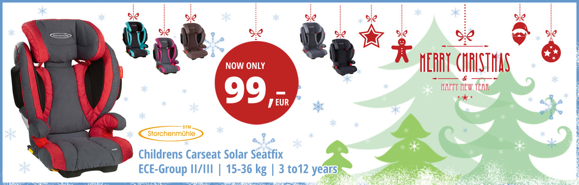 X-mas Promotion - Solar Seatfix only 99 Euro - Carseat Group 2-3