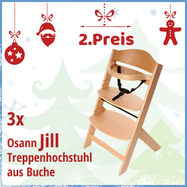 2. Preis zum 4.Advent: Treppenhochstuhl aus Buche Jill von Osann