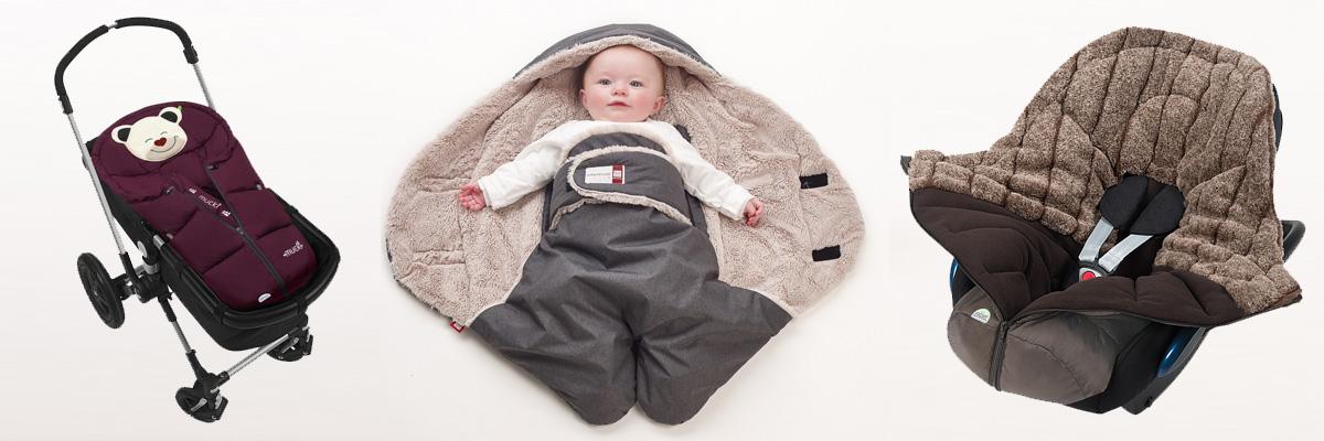 Winterfußsäcke für Babyschalen & Tragewannen