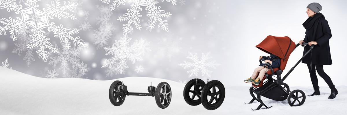 Winterräder & Ski für Kinderwagen