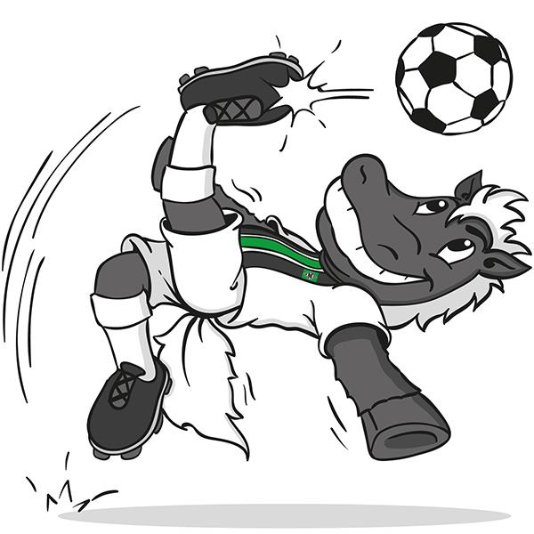 Maskottchen Jünter von Borussia Mönchengladbach
