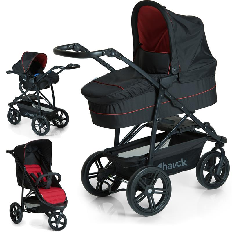 hauck rapid 3 plus trioset kinderwagen mit tragewanne babyschale neu ebay. Black Bedroom Furniture Sets. Home Design Ideas