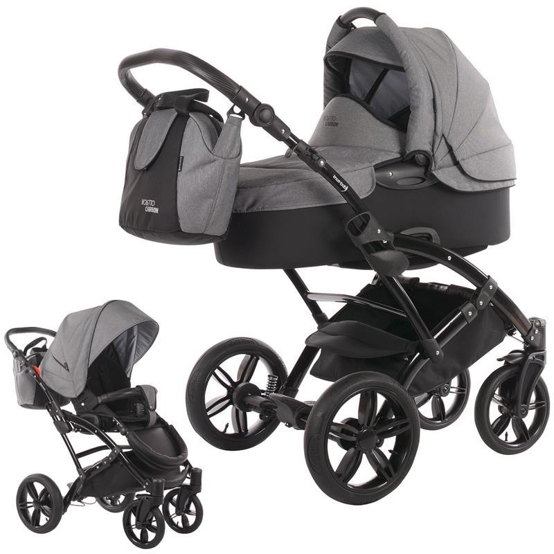 knorr baby voletto carbon stroller set with carrycot diaper bag beindec ebay. Black Bedroom Furniture Sets. Home Design Ideas