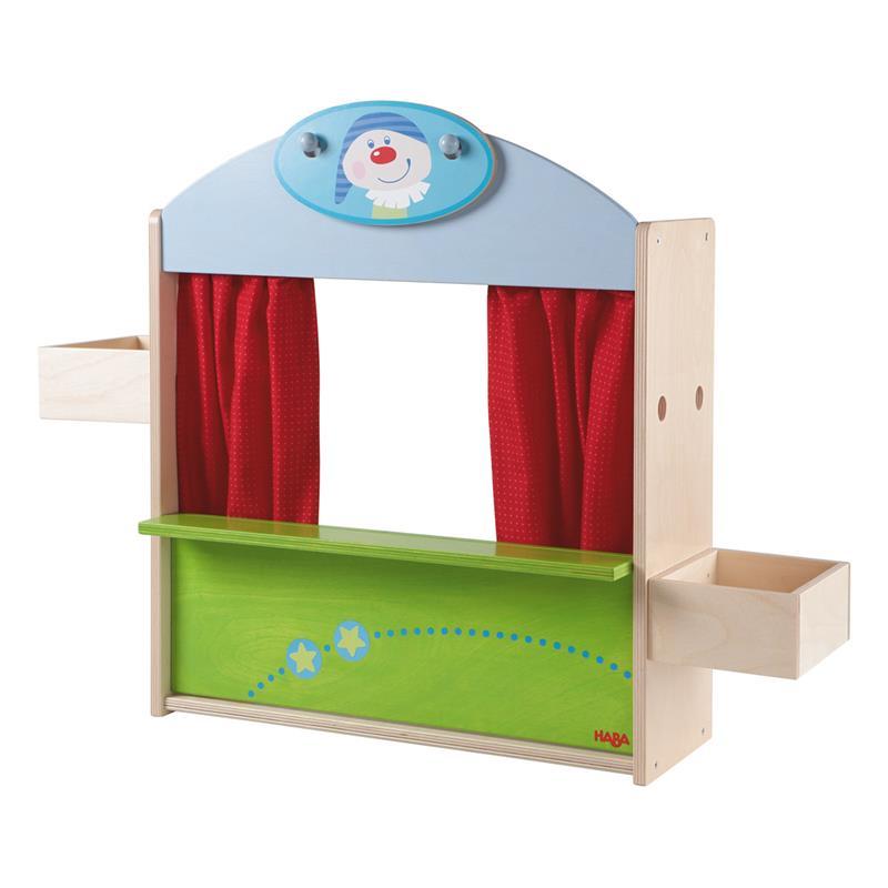 Kaufladen Holz Puppentheater ~ Details zu Haba Puppentheater Kaufladen 5692