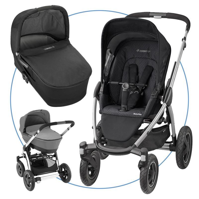 maxi cosi mura plus 4 kombikinderwagen mit babywanne black crystal ebay. Black Bedroom Furniture Sets. Home Design Ideas