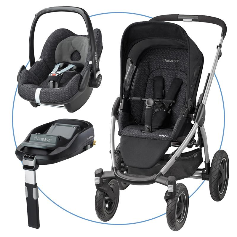 maxi cosi mura plus 4 travel blue system incl pebble familyfix black crystal. Black Bedroom Furniture Sets. Home Design Ideas