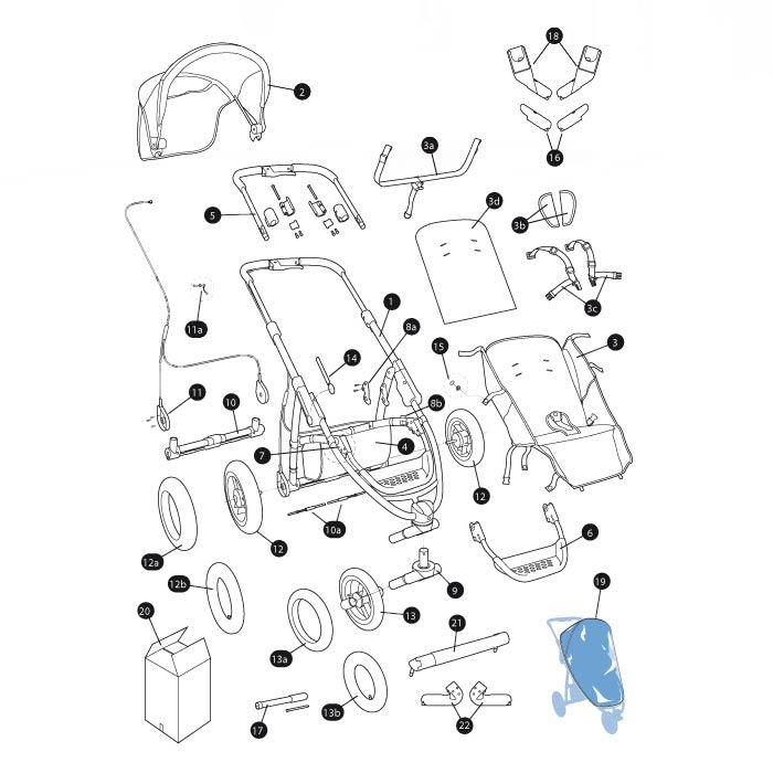 Quinny Speedi & Speedi SX Explosionszeichnung | KidsComfort.eu