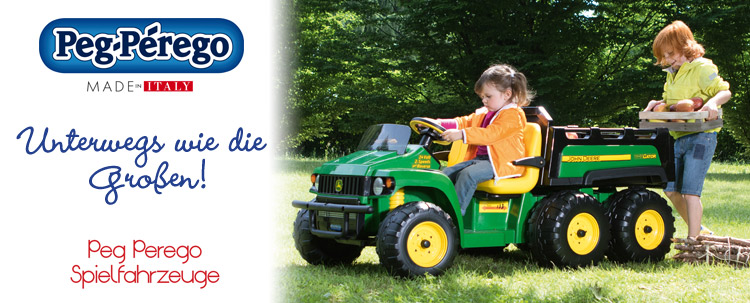 Unterwegs wie die Großen! Peg Perego Spielfahrzeuge - Made in Italy!