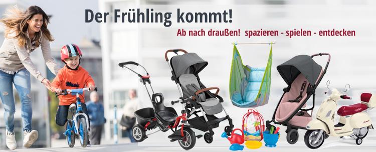 Der Frühling komm! Ab nach draußen! Entdecke Babyartikel und Kinderspielzeug für den Frühling bei KidsComfort.eu