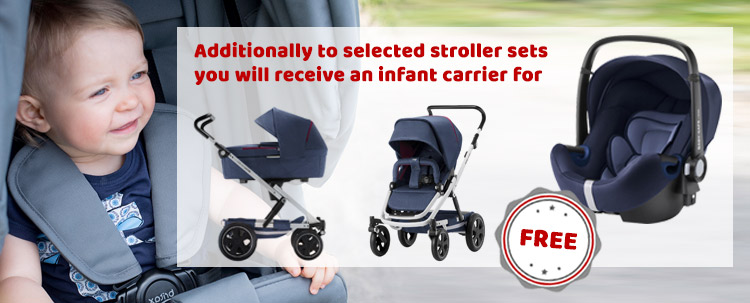 2ff37576607a0e Additionally to selected stroller sets you will receive an infant carrier  for FREE! Shop NOW!